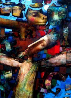 Alvaro Reja Paintings, Graphic Art, Pintura, Art Rooms, Expressionism, Artists, Altered Book Art, Paint, Painting Art