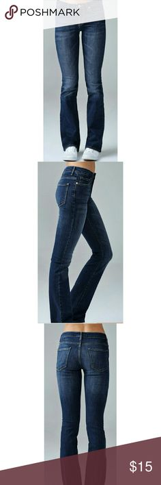 "Forever 21 Midrise Boot Cut Jeans These pre loved jeans are in EUC. They have a sleek silhouette, 5 pocket construction, mid rise, and a zip fly. 70% cotton, 20% polyester, 2% spandex. 7.5"" rise, 14.5"" waist(laying flat), and 30"" inseam. All measurements are approximate. Great pair of classic jeans at a great price. Forever 21 Jeans Boot Cut"