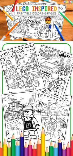 Lego Inspired Printable Coloring Pages
