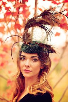 Feather+Fascinator+Hat+Headpiece+Steeplechase+by+RubyandCordelias  Fascinator Hats 75d97df49c49