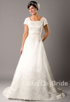 Love. Just.....love. The back is absolutely stunning as well.. :) ♥ ~Latter-Day Bride dress, Melisande