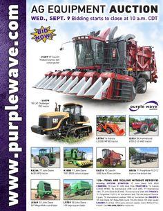 Ag Equipment Auction September 9, 2015 http://purplewave.com/a/150909
