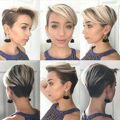 12 nuevo cabello fino Pixie //  #Fine #Hair #Pixie