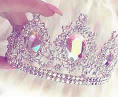 Sweet 16 Crowns, Pink Crown, Diamond Crown, Princess Aesthetic, Princess Tiara, Queen Crown, Crystal Crown, Bratz Doll, Head Accessories