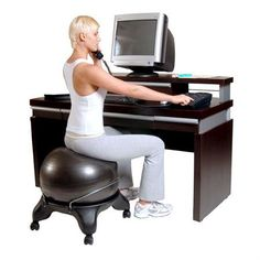 1000 images about exercise ball office chair on pinterest ball chair exercise ball and desk - Replacing office chair with exercise ball ...