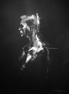 """""""In A Perfect World"""" // conte and chalk on paper by Guy Denning // www.guydenning.org"""