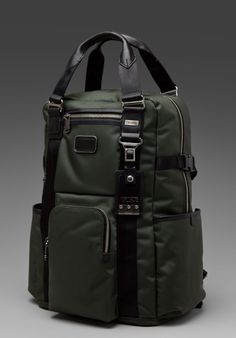 TUMI Alpha Bravo Lejeune Backpack Tote in Spruce at Revolve Clothing - Free… Look Fashion, Fashion Bags, Mens Fashion, My Bags, Purses And Bags, Tumi Backpack, Men's Backpacks, Diaper Bag, Hats For Men