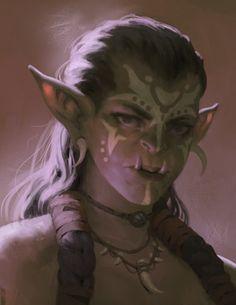 Lady Orc Portrait by Jaasif.deviantart.com on @DeviantArt