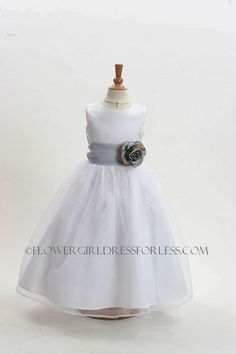 2022WSV - Flower Girl Dress Style 2022-BUILD YOUR OWN DRESS! Choice of 139 Sash and 51 Flower Options! - First Communion Dresses - Flower Girl Dress For Less