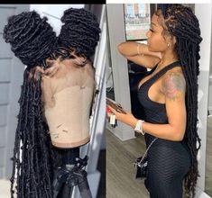 Faux Locs Hairstyles, Black Girl Braids, Braided Hairstyles For Black Women, Baddie Hairstyles, Locks Hairstyle, Black Hair Braid Hairstyles, Small Box Braids Hairstyles, Cornrows Braids For Black Women, Hair Ponytail