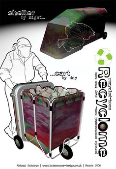 recyclome    recycled home recyclome    shelter by night recyclome    cart  by 8d379980e6469
