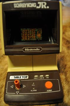 Donkey Kong JR Table Top Nintendo.   One of my favorite Christmas gifts as a child... Great memory!