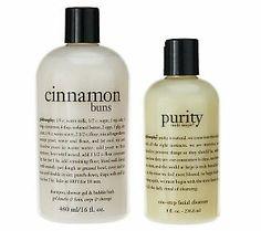 philosophy cinnamon buns 16 oz. 3-in-1 gel & 8 oz. purity made sim