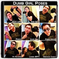 Dumb Girl Poses - haha i've been guilty of quite a few of these. ooops.