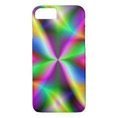 Colorful Metallic Fractal Lustre iPhone 7 Case