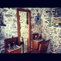 a traditional barber shop in Filoti village, in Naxos island/Greece. www.mynaxos.gr