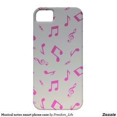 Musical notes smart phone case