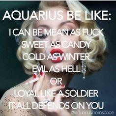Damn right, pick your version of me CAREFULLY Aquarius Facts, Zodiac Sign Aquarius, Aquarius Lover, Aquarius Quotes, Aquarius Woman, Age Of Aquarius, Zodiac Quotes, My Zodiac Sign, Libra