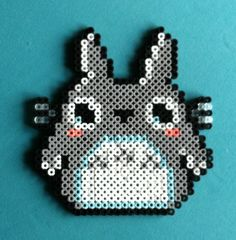 My Neighbor Totoro Perler Bead Magnet by PorcupineSpines on Etsy, $6.00