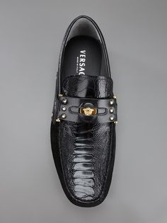 VERSACE - penny loafer car shoe 8