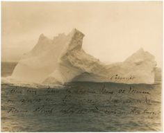 Iceberg that Sunk Titanic Photo taken by Captain W. Wood of the S. Etonian on April The iceberg depicted is the one that would sink the Titanic three days later. Naufrágio Do Titanic, Titanic Photos, Titanic Sinking, Belfast, Southampton, Titanic Artifacts, Before Midnight, Interesting History, Historical Photos