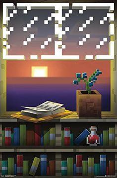 "Trends International RP14914 Minecraft Window Wall Poster, 22.375"" x 34"""