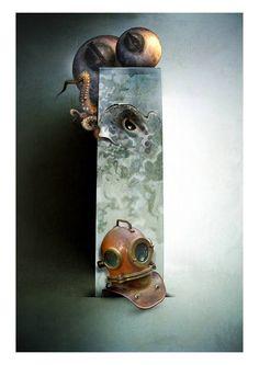 Ventimila leghe sotto i mari Illustrazione di Maurizio Marotta