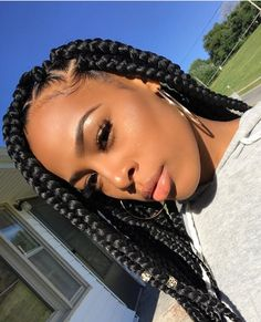 43 Cool Blonde Box Braids Hairstyles to Try - Hairstyles Trends Big Box Braids, Blonde Box Braids, Jumbo Box Braids, Black Girl Braids, Box Braids Styling, Girls Braids, Jumbo Crochet Braids, Box Braids Hairstyles, Girl Hairstyles