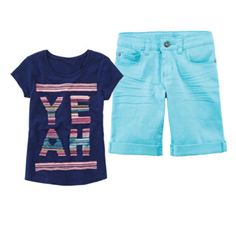 Arizona Graphic Tee or Colored Bermuda Shorts – Girls 7-16 and Plus  found at @JCPenney