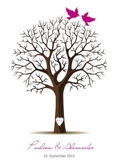 kostenloser Wedding Tree zum selberdrucken - natürlich auch für 2015