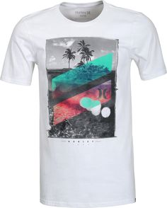 Hurley Skull Slash T-Shirt - white - Free Shipping