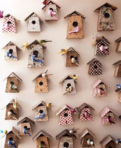 would love a wall of birdhouses!