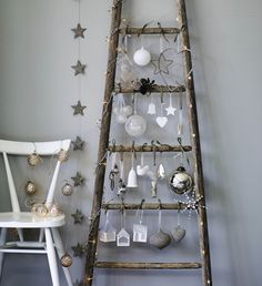White and Silver Christmas decorations by The White Company Get more inspiration on Livingcolourstyle.com