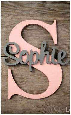 Personalized Children's Wood Wall Name Signs. Wood Letters for Nursery. Wall Letter Nursery Decor, Nursery, Kids Name Sign. Nursery Letters, Diy Letters, Wood Letters, Nursery Wall Art, Nursery Decor, Girl Nursery, Wooden Room, Wooden Decor, Diy For Kids
