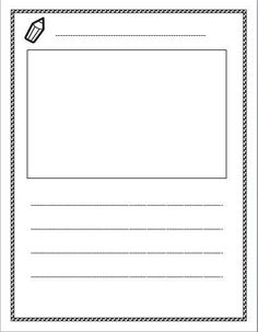 Free lined paper with space for story illustrations. Checkout the ...