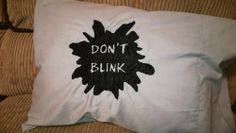 Doctor Who Don't Blink Weeping Angels Pillowcase