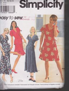 Simplicity 7111 Misses' Wrap Dress or Top by handsoncreativitytoo, $5.00