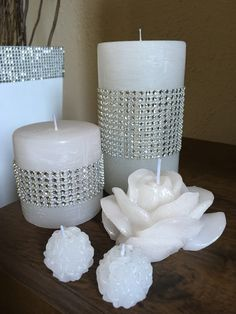 Best Candles, Diy Candles, Pillar Candles, Ramadan Decorations, Christmas Decorations, Holiday Crafts, Christmas Diy, Personalized Candles, Homemade Candles