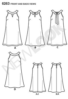Find your perfect dress pattern from our huge range: summer dress patterns, evening dress patterns, vintage dress patterns, easy to sew, from all leading brands Evening Dress Patterns, Summer Dress Patterns, Vintage Dress Patterns, Dress Sewing Patterns, Dresses For Teens, Simple Dresses, Sewing Clothes, Diy Clothes, Fashion Sketch Template