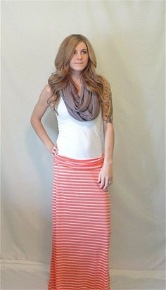 Striped Maxi Skirt #Etsy #Maxi #Skirt
