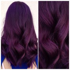 30 Perfect Lavender Hair Color Design Ideas For Summer Hair Style Violet Hair Colors, Hair Color Purple, Hair Color And Cut, Hair Dye Colors, Cool Hair Color, Dark Violet Hair, Dark Red Purple Hair, Plum Hair, Burgundy Hair