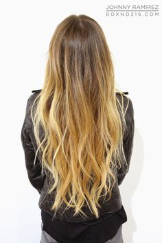 Gorgeous honey ombré with warm blonde highlights