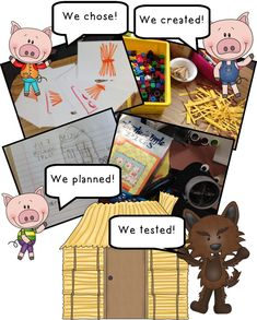 The Three Little Pigs and the Big, Bad, Challenge! The Three Little Pigs and The Big Bad Pig – Great, interactive activity to use after reading the story! {Perfect for actively engaged students! Traditional Tales, Traditional Stories, Interactive Activities, Stem Activities, 3 Little Pigs Activities, Kindergarten Stem, Preschool Literacy, Preschool Ideas, Fractured Fairy Tales