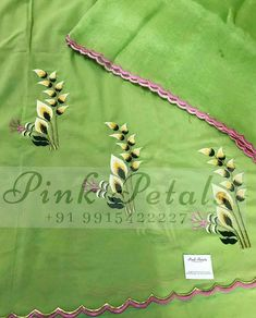 Instagram Embroidery Suits Punjabi, Embroidery On Kurtis, Kurti Embroidery Design, Basic Embroidery Stitches, Hand Embroidery Videos, Cutwork Embroidery, Cute Embroidery, Embroidery Dress, Machine Embroidery Designs