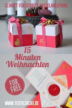 Basteln Give away time: 15 minutes of Christmas Diy Crafts To Do, Upcycled Crafts, Homemade Crafts, Christmas Time, Christmas Crafts, Holiday Break, Practical Gifts, Wine Bottle Crafts, Graduation Gifts