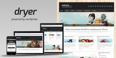 Dryer - Multipurpose WordPress Theme . Dryer is a fully customizable premium WordPress multipurpose theme for your corporate blog or website. The theme is powered by Warp Framework and is fully localized/internationalized and has been tested in all major browsers so you can be sure your users will see your website correctly. The theme
