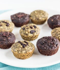 One bowl banana muffins-gluten free, oil free, refined sugar free, and vegan.