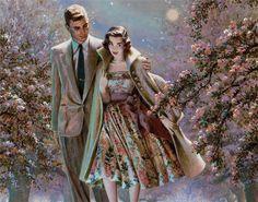 Edwin Georgi, artist ~ courtship 1950's