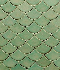 Neil & Jackie used fish style roof tiles for the church - but here is anotherl example of how you could do something similar with indoor tiles