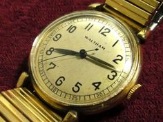 2fc7f40ec6 Waltham 1940'sウォルサムWALTHAM10金張り手巻きアンティーク腕時計 Watch Antique ¥1yen 〆08月16日